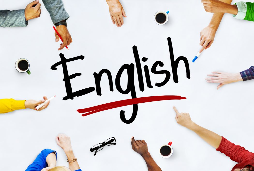 Multi-Ethnic Group of People and English Concept